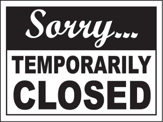 Image result for clubhouse closed sign